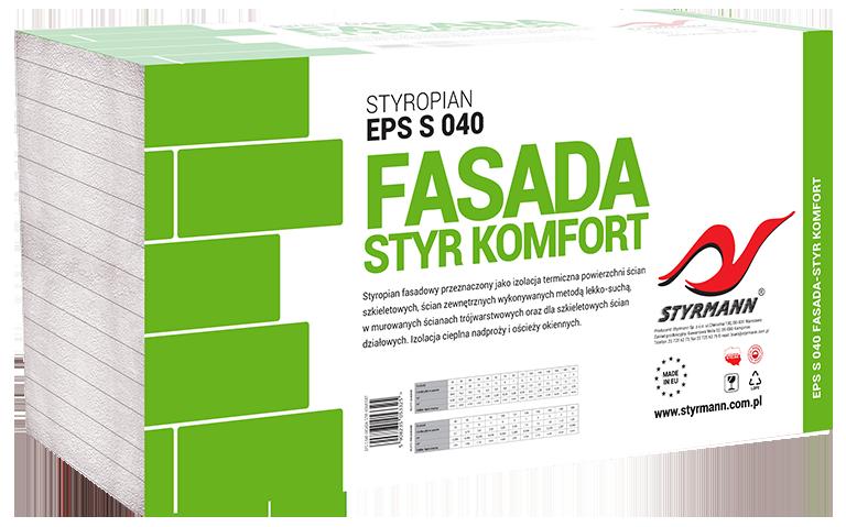 Płyty styropianowe EPS S 040 FASADA-STYR KOMFORT